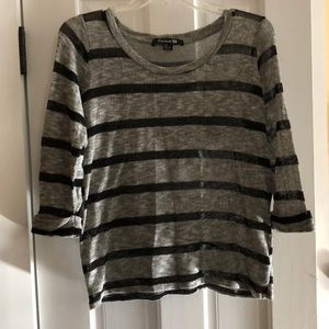 Black and grey stripped, light weight sweater